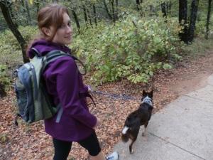Hiking with my dog Niko